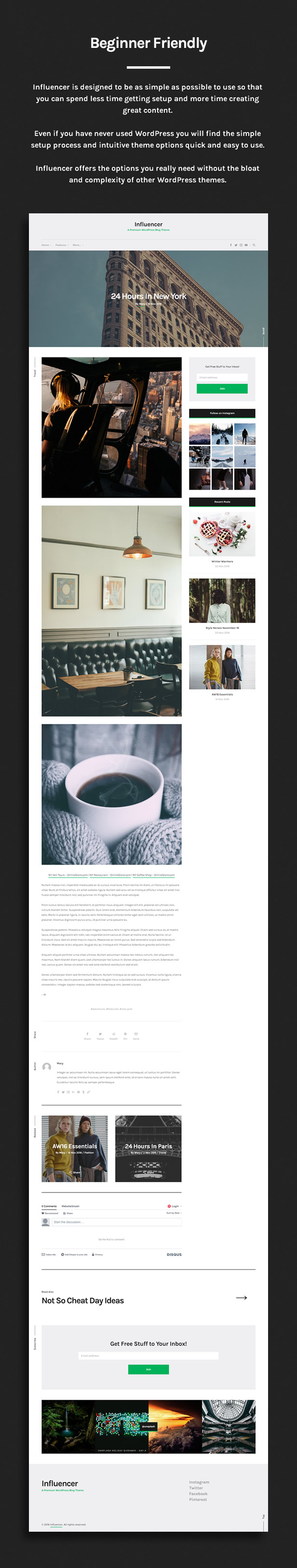 Influencer - Magazine & Blog WordPress Theme - 4