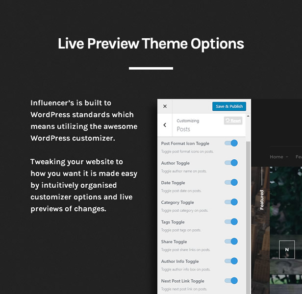 Influencer - Magazine & Blog WordPress Theme - 5