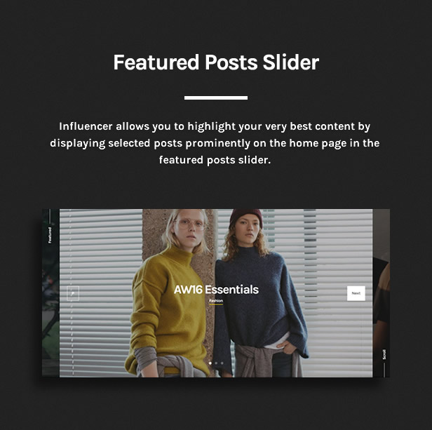 Influencer - Magazine & Blog WordPress Theme - 10
